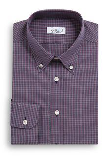 Chemise sportswear à petits carreaux rouges - M25 - Lib & Staël