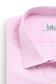 Chemise en fil à fil rose uni - M11 - Lib & Staël