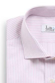 Chemise en chevrons à rayures roses - M20 - Lib & Staël
