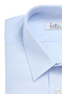 Chemise en fil à fil bleu clair uni - M47 - Lib & Staël