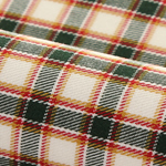 Twill à motif tartan vert, orange et rouge