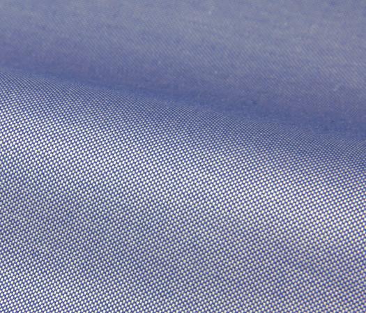 Oxford 100s bleu uni double retors – Easy Care